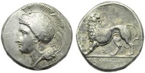 Lucania, Velia, Didracma, c. 334-300 a.C.; ...