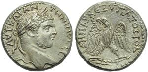 Caracalla (198-217), Tetradrachm, Cyprus ...
