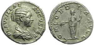 Plautilla (Caracalla, 198-217), Denarius, ...