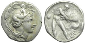 Lucania, Eraclea, Statere, c. 390-340 a.C.; ...