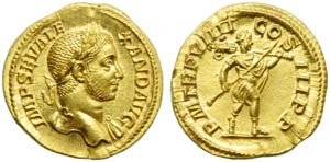 Severus Alexander (222-235), Aureus, Rome, ...