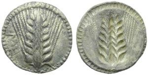 Lucania, Metaponto, Dracma, c. 540-510 a.C.; ...