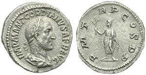 Gordian I (238), Denarius, Rome, March - ...