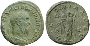 Pupienus (238), Sestertius, Rome, April - ...