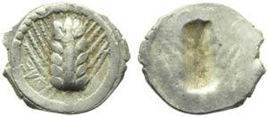 Lucania, Metaponto, Obolo, c. 540-510 a.C.; ...