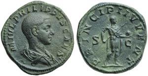 Philip II, as Caesar (Philip I, 244-249), ...