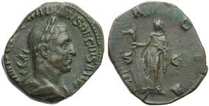 Trajan Decius (249-251), Sestertius, Rome, ...