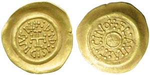 Lombards, Desiderius (757-774), Tremissis, ...