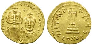 Constans II with Costantinus IV (641-668), ...