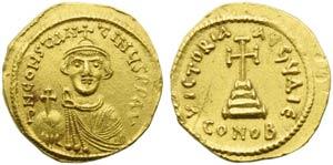 Constans II (641-668), Solidus, Syracuse ...