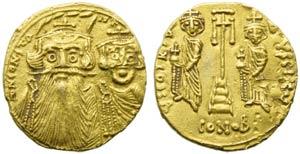 Constans II with Constantinus IV, Heraclius ...