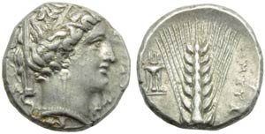Lucania, Metapontion, Stater, c. 340-330 BC; ...