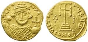 Leontius (695-698), Solidus, Syracuse, AD ...