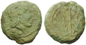 Etruria, Vetulonia, Sextant, c. 300-250 BC; ...