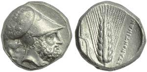 Lucania, Metapontion, Distater, c. 340-330 ...