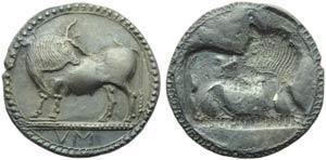 Lucania, Sybaris, Stater, c. 550-510 BC; AR ...
