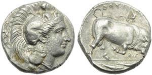 Lucania, Thurium, Distater, c. 350-300 BC.; ...