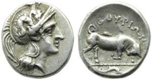 Lucania, Thurium, Triobol, c. 443-400 BC; AR ...