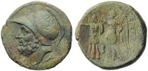 Bruttium, Brettii, Bronze, c. 211-208 BC; AE ...