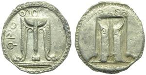 Bruttium, Croton, Drachm, c. 530-500 BC; AR ...