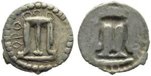 Bruttium, Croton, Hemiobol, c. 530-500 BC; ...