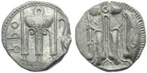 Bruttium, Croton, Stater, c. 480-430 BC; AR ...