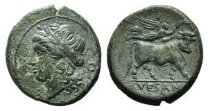 Campania, Suessa Aurunca, c. 265-240 BC. Æ ...