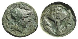 Northern Apulia, Venusia, c. 210 BC. Æ ...
