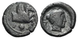 Southern Apulia, Tarentum, c. 470-465 BC. AR ...