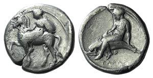 Southern Apulia, Tarentum, c. 390-385 BC. AR ...