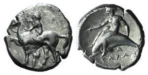 Southern Apulia, Tarentum, c. 380-375/0 BC. ...