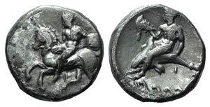 Southern Apulia, Tarentum, c. 344-334 BC. AR ...