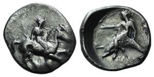 Southern Apulia, Tarentum, c. 365-355 BC. AR ...