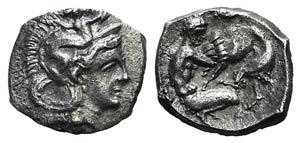 Southern Apulia, Tarentum, c. 380-325 BC. AR ...