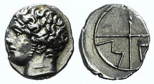 Gaul, Massalia, c. 218/5-200 BC. AR Obol ...