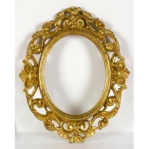 Cornice dorata in stile BaroccoLuce: 24 x 18 ...