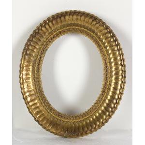 Cornice ovale dorataLuce: 18 x 12 cm; ...