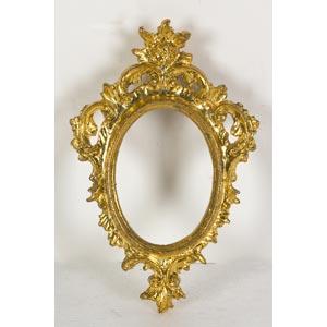 Cornice ovale dorataLuce: 8 x 6 cm; ...