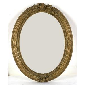Cornice ovale dorataLuce: 40 x 30 cm; ...