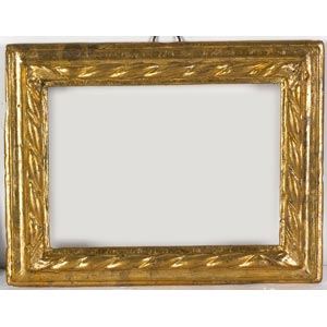 Cornice in legno dorato Luce: 16 x 22 cm; ...