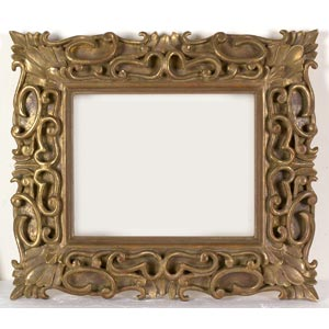 Cornice in legno doratoLuce: 19 x 23 cm; ...