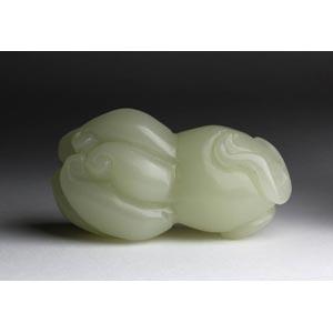 A pale celadon jade buddha's hand;XX ...