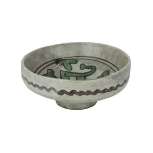 Straight-sided bowl on a foot. ...