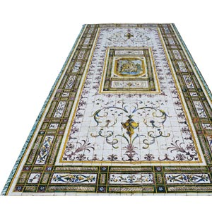 Floor mosaic consisting ...