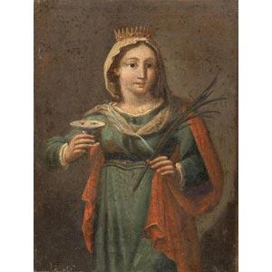 ROMAN WORKSHOPSaint Lucy18th centuryOil on ...