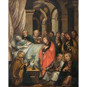 ROMAN SCHOOLThe death of the VirginOil on ...