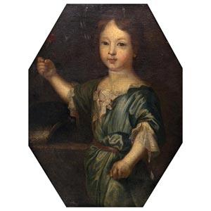 BOLOGNESE SCHOOLGirl portrait17th centuryOil ...