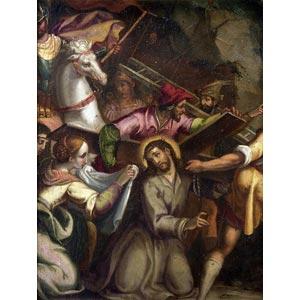 FLEMISH PAINTERVeronica wipes Christ's ...