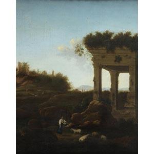 ROMAN SCHOOLLandscape with ruinsOil on ...