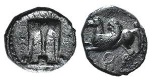 Bruttium, Kroton, c. 430-420 BC. AR Triobol ...